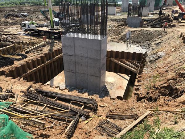 武汉檀军公路扩宽改造工程拉森钢板桩支护