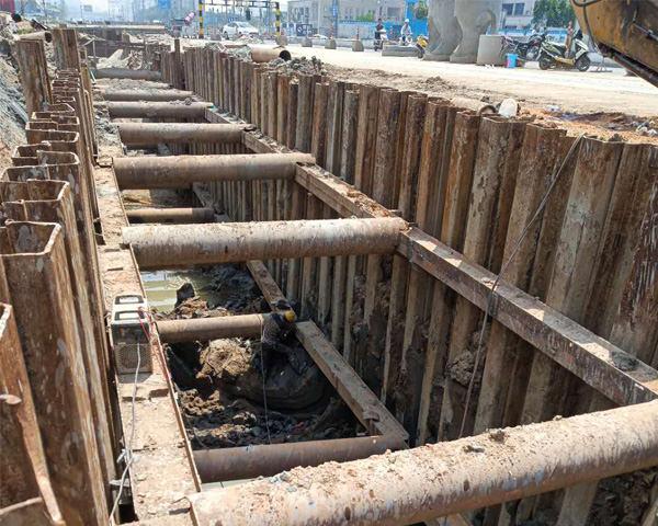 漳州角美城市污水处理工程钢板桩施工